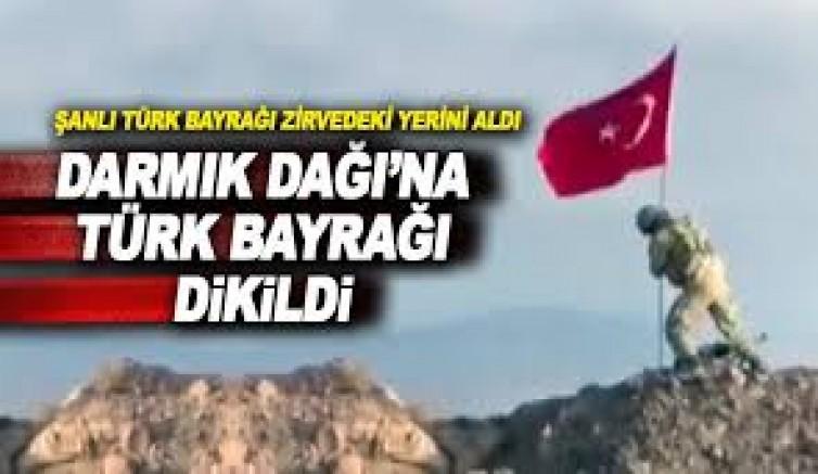 18 Mart Çanakkale Zaferi'nin yıl dönümünde Afrin'e Türk bayrağı dikildi