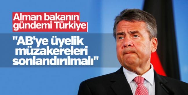 Alman bakan Gabriel'den Türkiye açıklaması