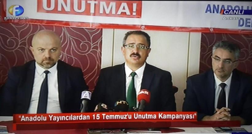 AYD Başkanı Burhan;60 Yerel kanalda '15 Temmuz'u unutmadık'
