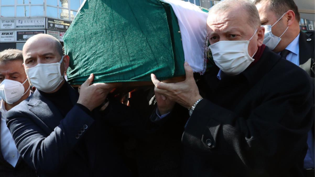 Bakan Soylu'nun annesi son yolculuğuna uğurlandı! Cumhurbaşkanı Erdoğan'dan duygusal konuşma