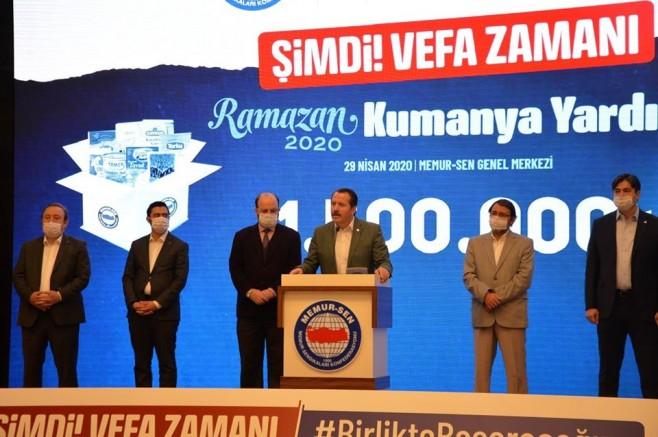 MEMUR-SEN 1.500.000 TL RAMAZAN YARDIMI  YAPTI