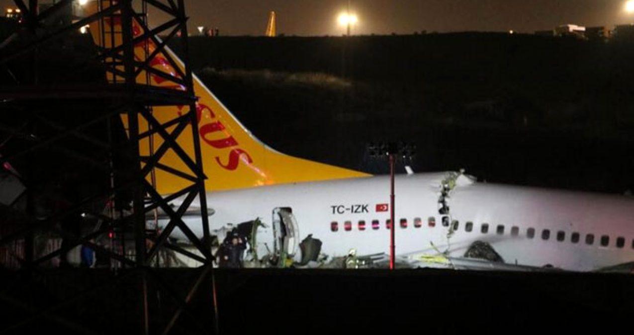 Son Dakika: Pegasus'tan uçağın pistten çıkmasına ilişkin açıklama: Can kaybı yok, yaralı yolcular hastaneye sevk edildi