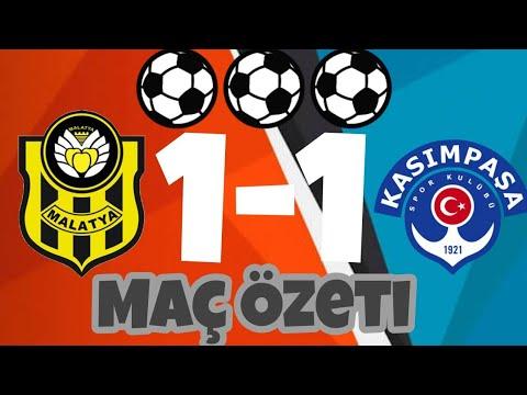 Evkur Yeni Malatyaspor 1-1 Kasımpaşa |MAÇ ÖZETİ| 09/02/2018